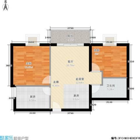 荣丰20082室0厅1卫1厨85.00㎡户型图