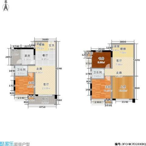 水墨林溪3室0厅2卫1厨136.05㎡户型图