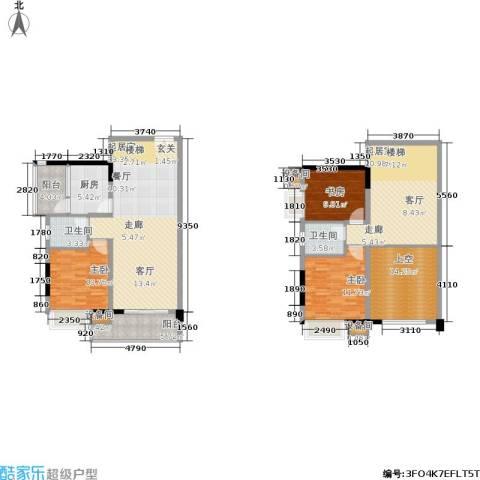 水墨林溪3室0厅2卫1厨140.09㎡户型图