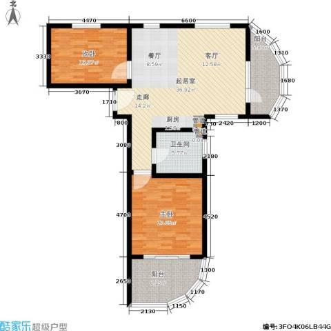 佳兆业东戴河2室0厅1卫0厨99.00㎡户型图