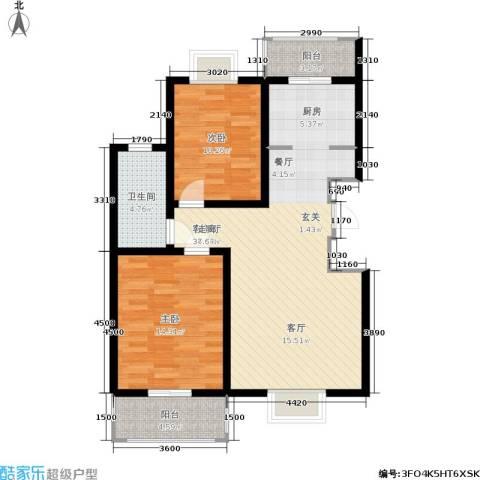 福汇华庭2室1厅1卫0厨102.00㎡户型图