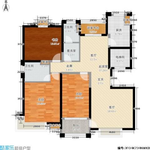 风尚米兰3室0厅2卫1厨161.00㎡户型图