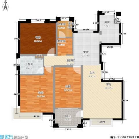 风尚米兰3室0厅2卫0厨130.00㎡户型图