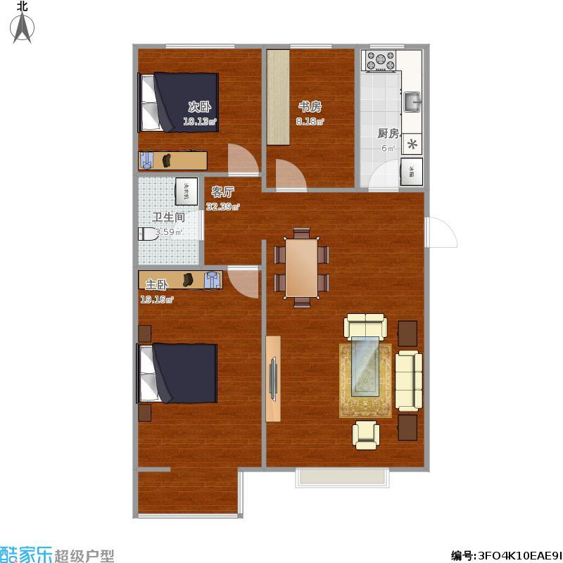F1三室两厅一卫