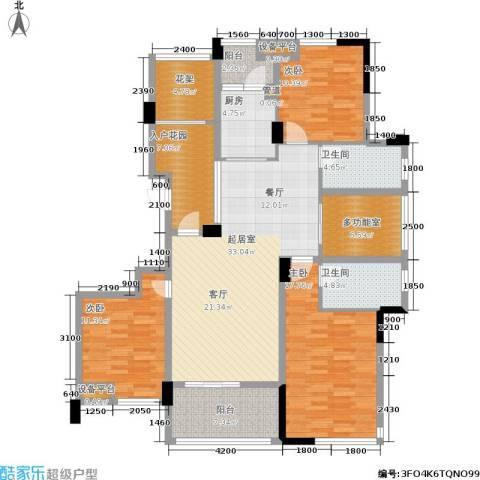 玉柴博望园3室0厅2卫1厨130.00㎡户型图