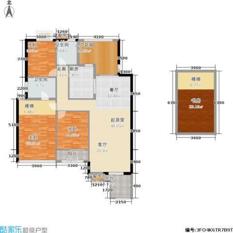 玉柴博望园4室0厅2卫1厨151.05㎡户型图