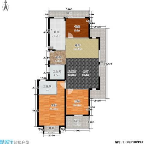 新湖保亿御景国际3室0厅2卫1厨139.00㎡户型图
