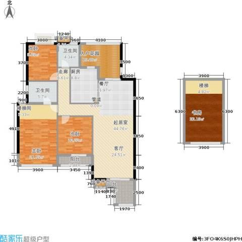玉柴博望园4室0厅2卫1厨148.13㎡户型图