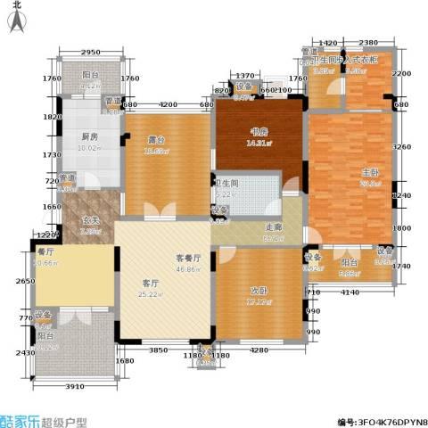 俊城橡树原3室1厅2卫1厨240.00㎡户型图