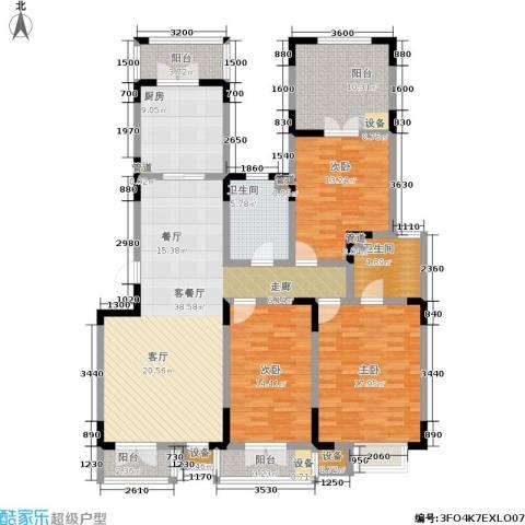 俊城橡树原3室1厅2卫1厨181.00㎡户型图