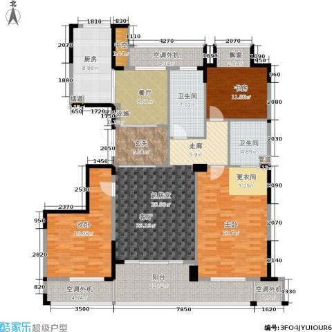 新湖保亿御景国际3室1厅2卫1厨144.00㎡户型图
