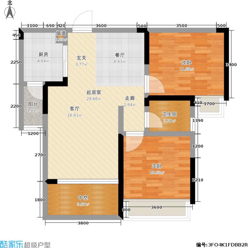 佳兴花园城87.97㎡2#、3#、4#楼B3户型