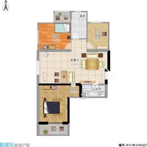 太铁佳苑3室1厅1卫1厨119.00㎡户型图
