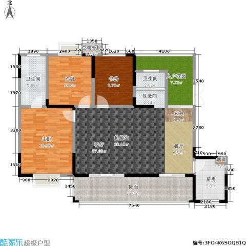 树高卡地亚3室0厅2卫1厨151.00㎡户型图