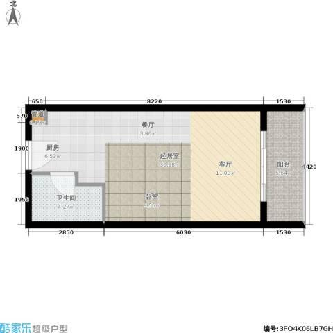 佳兆业东戴河1卫0厨46.00㎡户型图