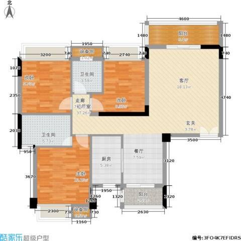 水墨林溪3室0厅2卫1厨105.33㎡户型图