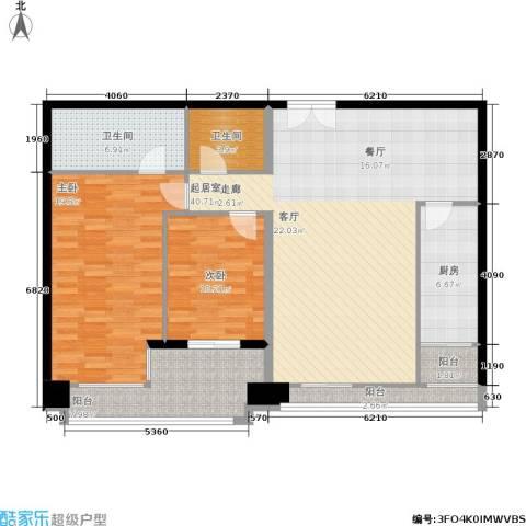 朗琴园2室0厅2卫1厨111.00㎡户型图