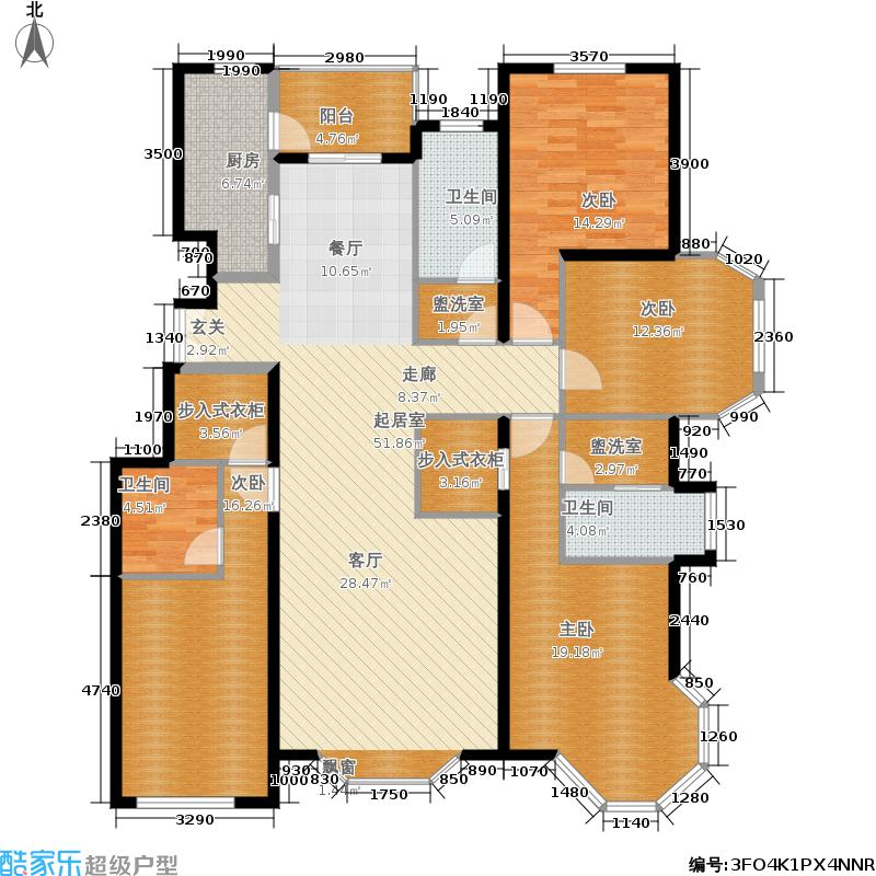 金隅翡丽(金隅翡丽·蓝爵堡)B2户型4室2厅