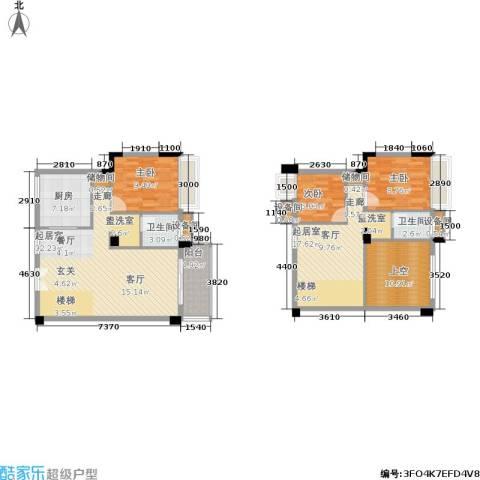 水墨林溪3室0厅2卫1厨119.81㎡户型图