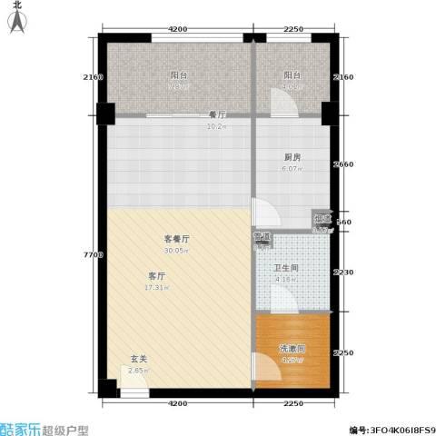 北京悦1厅1卫1厨76.00㎡户型图