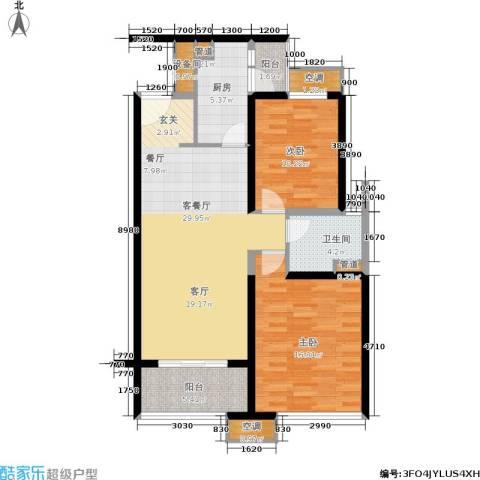 海伦春天2室1厅1卫1厨89.00㎡户型图