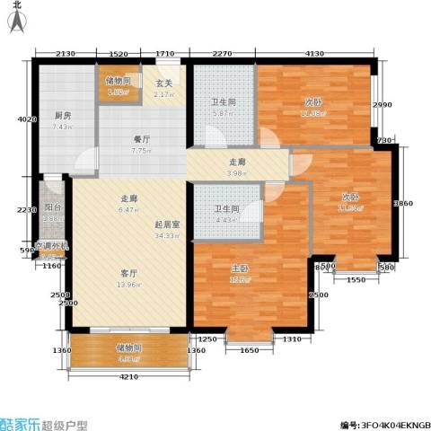荣丰20083室0厅2卫1厨140.00㎡户型图