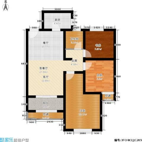 高科麓湾国际社区3室1厅1卫1厨89.00㎡户型图