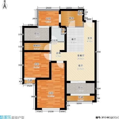高科麓湾国际社区2室1厅1卫1厨89.00㎡户型图