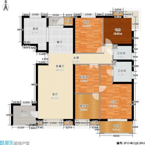 高科麓湾国际社区3室1厅2卫1厨194.00㎡户型图