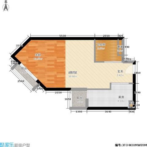朗琴园1卫1厨47.00㎡户型图