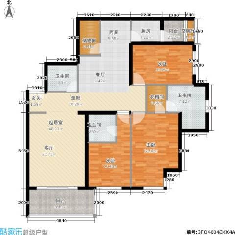 荣丰20083室0厅3卫1厨174.00㎡户型图