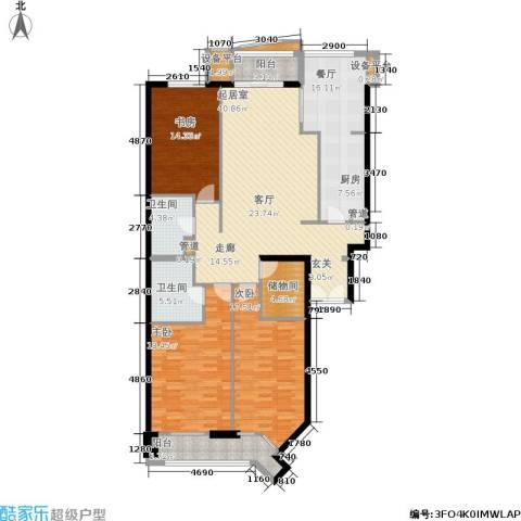 朗琴园3室1厅2卫0厨150.00㎡户型图
