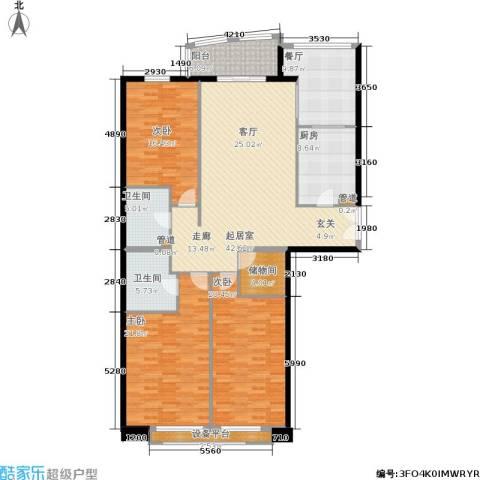 朗琴园3室1厅2卫1厨159.00㎡户型图