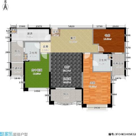 雅居乐・御龙山2室0厅2卫1厨129.00㎡户型图