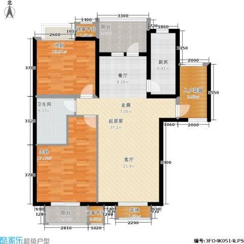 绿堤香廊2室0厅1卫1厨140.00㎡户型图