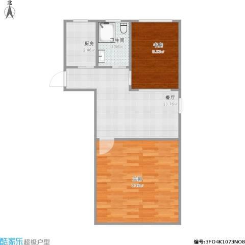 京浦小区2室1厅1卫1厨63.00㎡户型图