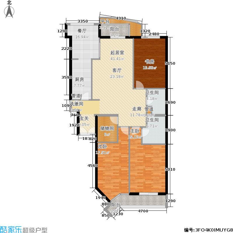 朗琴园152.10㎡10号楼C2面积15210m户型
