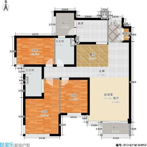 馨湖园3室0厅2卫1厨140.00㎡户型图