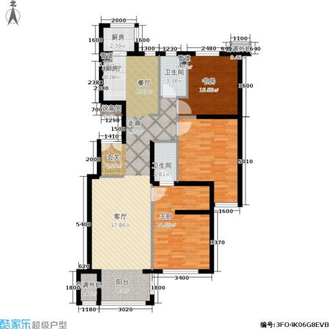 涧桥山2室1厅2卫1厨120.00㎡户型图