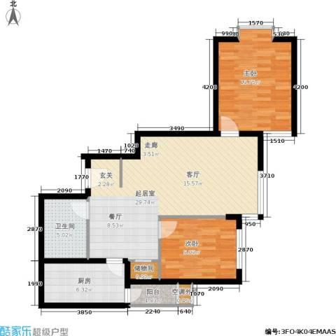 荣丰20082室0厅1卫1厨95.00㎡户型图