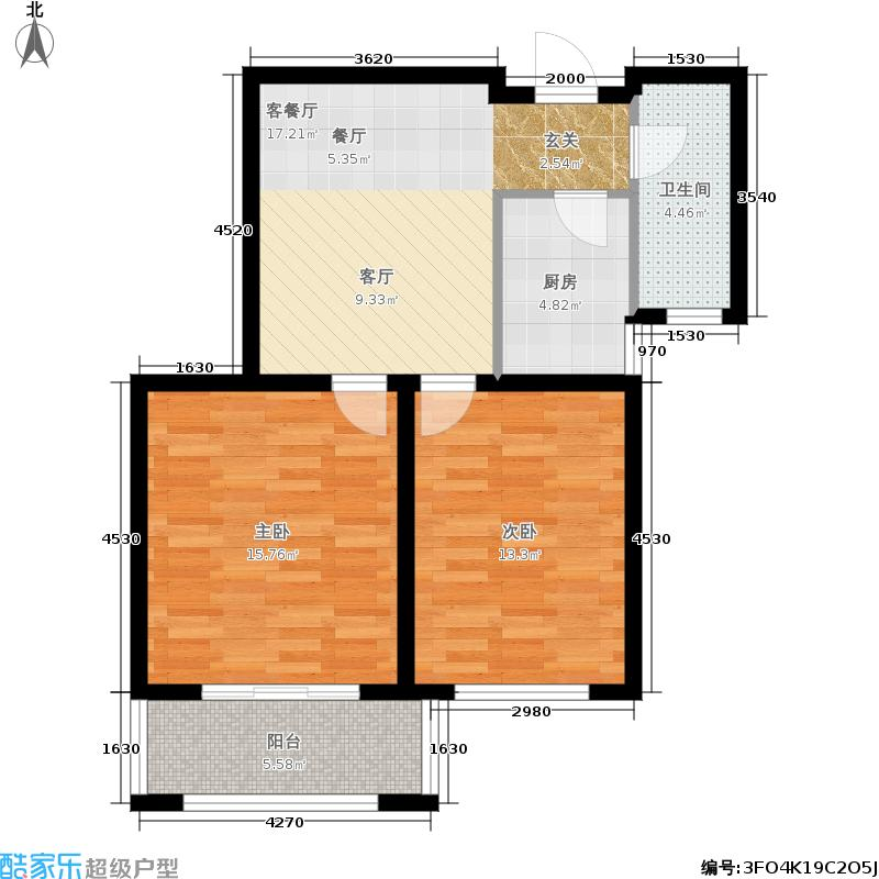 上海滩花园33、34#楼玲珑丽筑户型