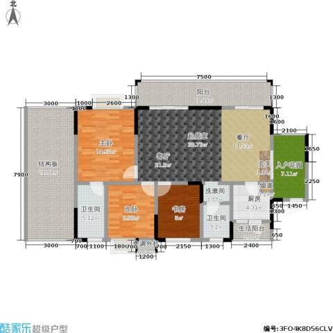 树高卡地亚3室0厅2卫1厨173.00㎡户型图