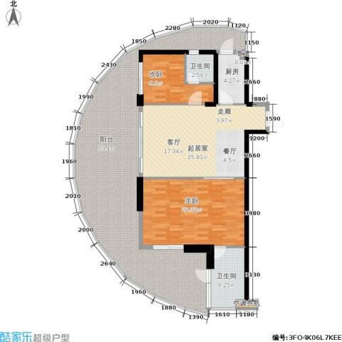 佳兆业东戴河2室0厅2卫1厨171.00㎡户型图