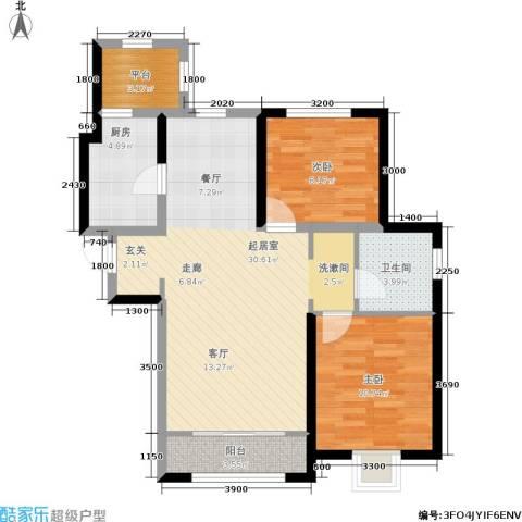 融科瀚棠2室0厅1卫1厨92.00㎡户型图