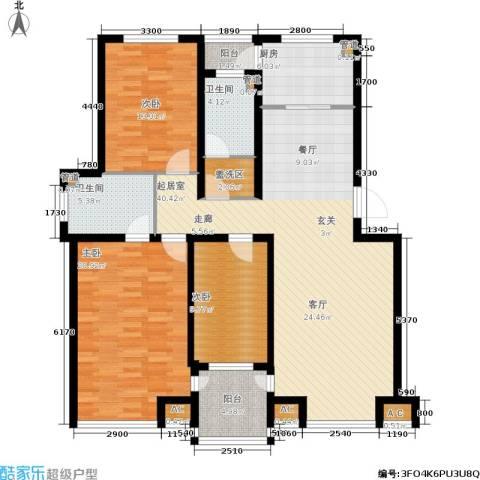山水龙城3室0厅2卫1厨158.00㎡户型图