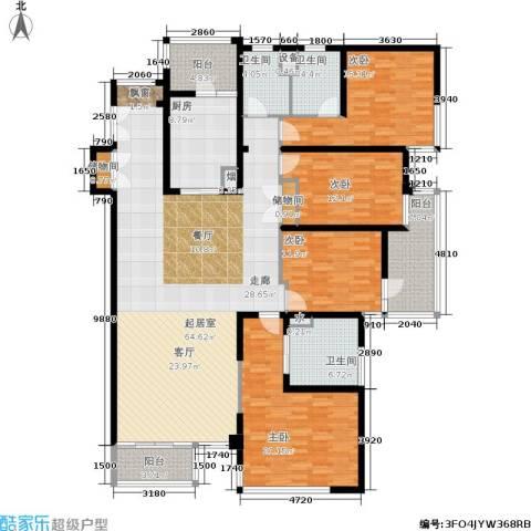 馨湖园4室0厅3卫1厨190.00㎡户型图