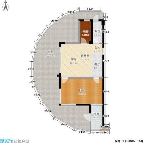 佳兆业东戴河1室0厅1卫1厨162.00㎡户型图