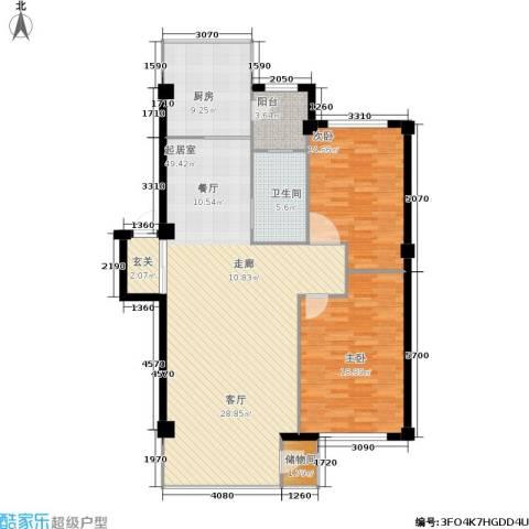 东升御景苑2室0厅1卫1厨143.00㎡户型图