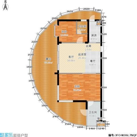 佳兆业东戴河2室0厅2卫1厨172.00㎡户型图