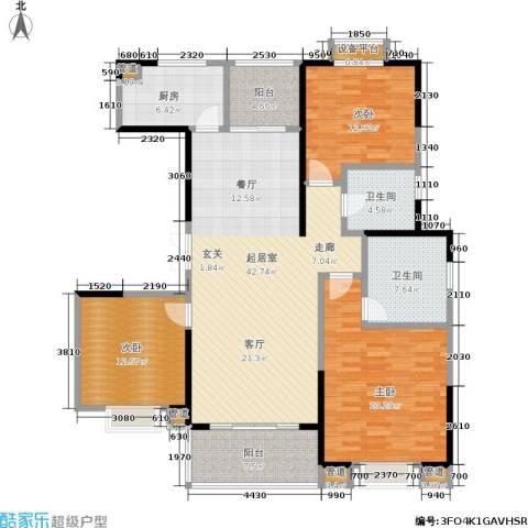 绿地世纪城3室0厅2卫1厨135.00㎡户型图